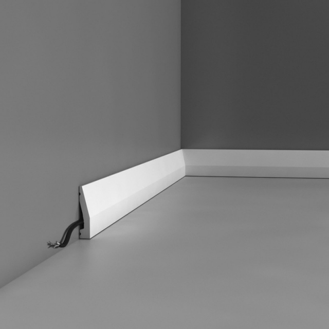 Плинтус напольный под покраску Orac decor DX159 клей в подарок