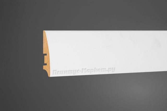 Плинтус МДФ напольный белый Perfect 101-60 скидки от обьема на все