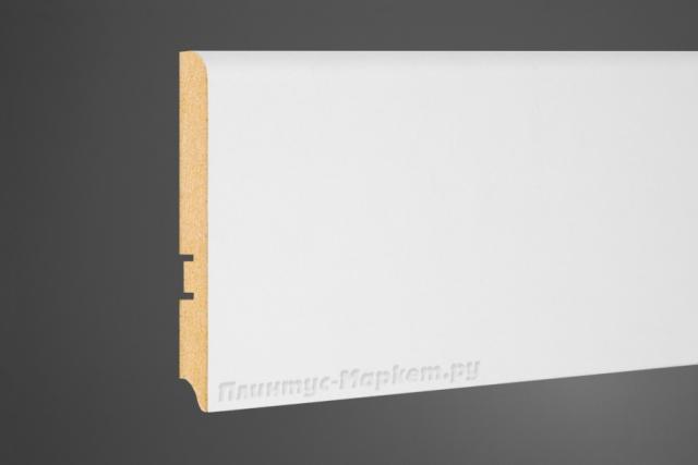 Плинтус напольный МДФ белый Perfect 102-100 клей в подарок