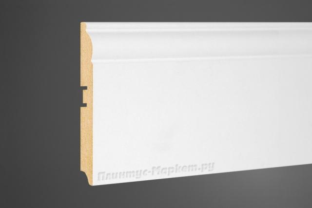 Плинтус МДФ высокий белый Perfect 104-116 клей в подарок
