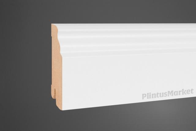 Плинтус напольный широкий белый Pedross 5910 клипсы в подарок