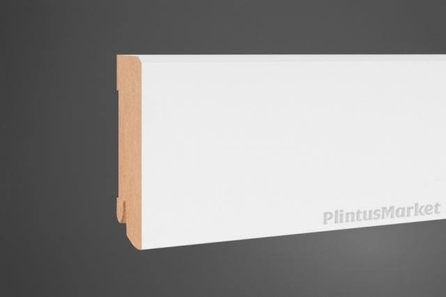 Плинтус МДФ широкий белый Pedross 5912 клипсы в подарок