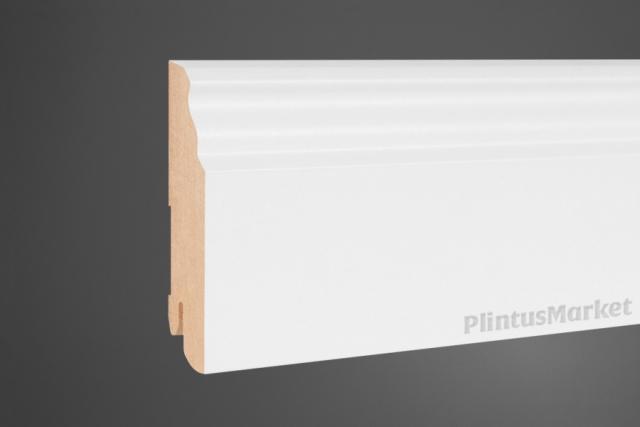 Плинтус МДФ высокий белый Pedross 6339 клипсы в подарок