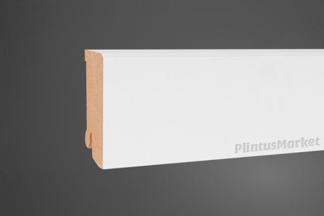 Плинтус МДФ широкий белый Pedross 6360 клипсы в подарок