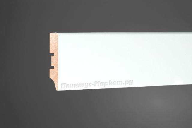 Плинтус напольный МДФ белый Perfect 60 клей в подарок