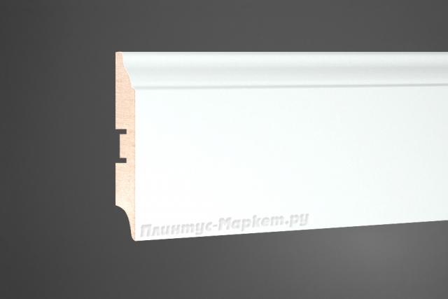 Плинтус напольный МДФ белый Perfect 82 клей в подарок