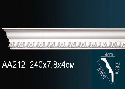 Карниз потолочный под покраску Perfect AA212 клей в подарок