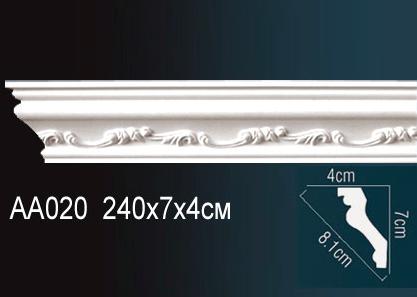 Карниз потолочный под покраску Perfect AA020 клей в подарок