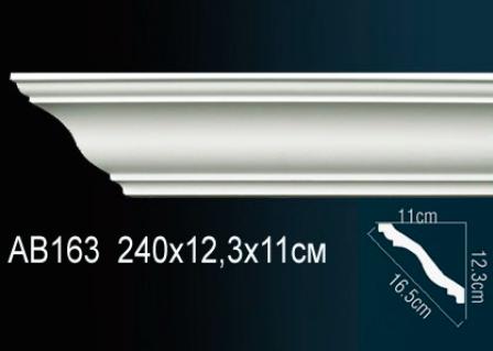 Карниз гладкий под покраску Perfect AB163 клей в подарок