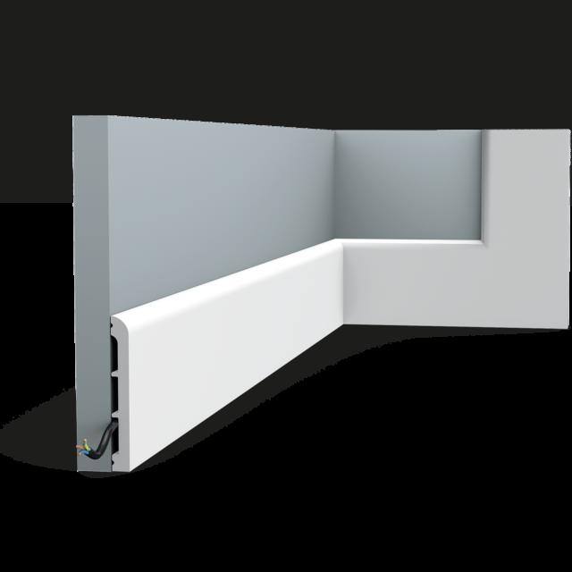 Плинтус дюрополимер под покраску Orac decor SX184 доставка в подарок