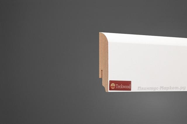 Плинтус напольный МДФ белый TeckWood 07016 клей в подарок
